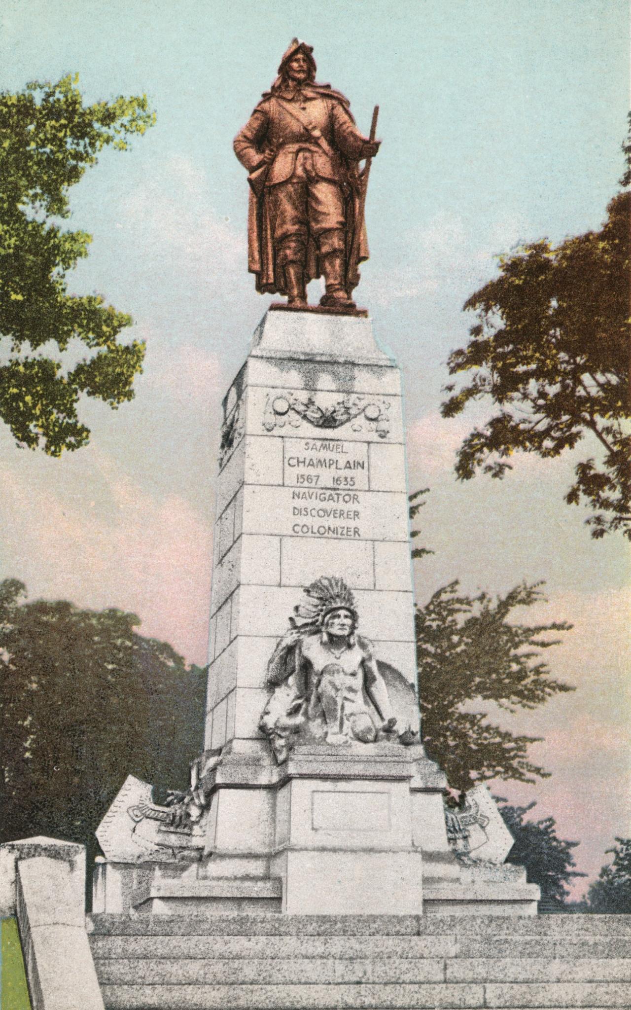Monument to Samuel De Champlain, Plattsburgh, N. Y.
